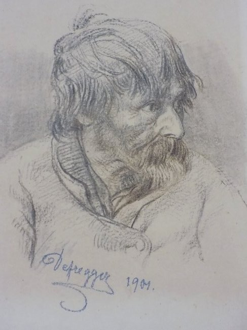 FRANZ DEFREGGER - OLD MASTER DRAWING LITHOGRAPH - 3