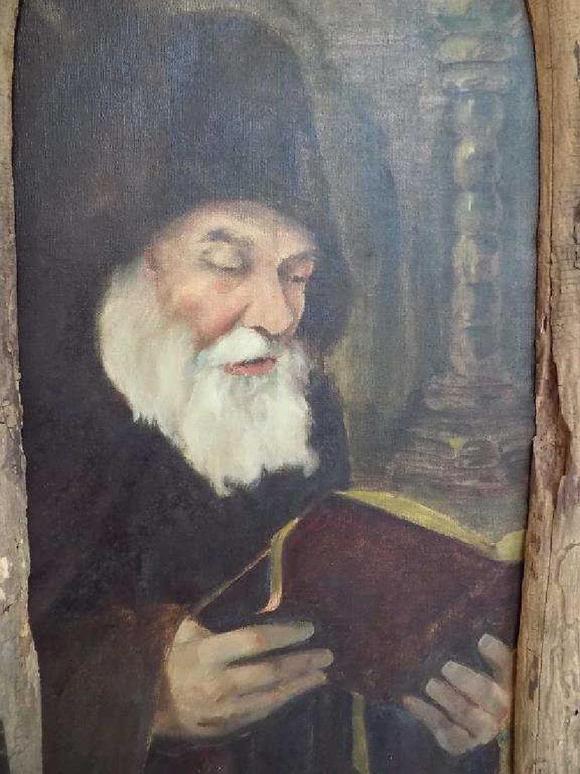 JACQUE ? RELIGIOUS CHRISTIAN HOLY MAN PAINTING Signed - 2