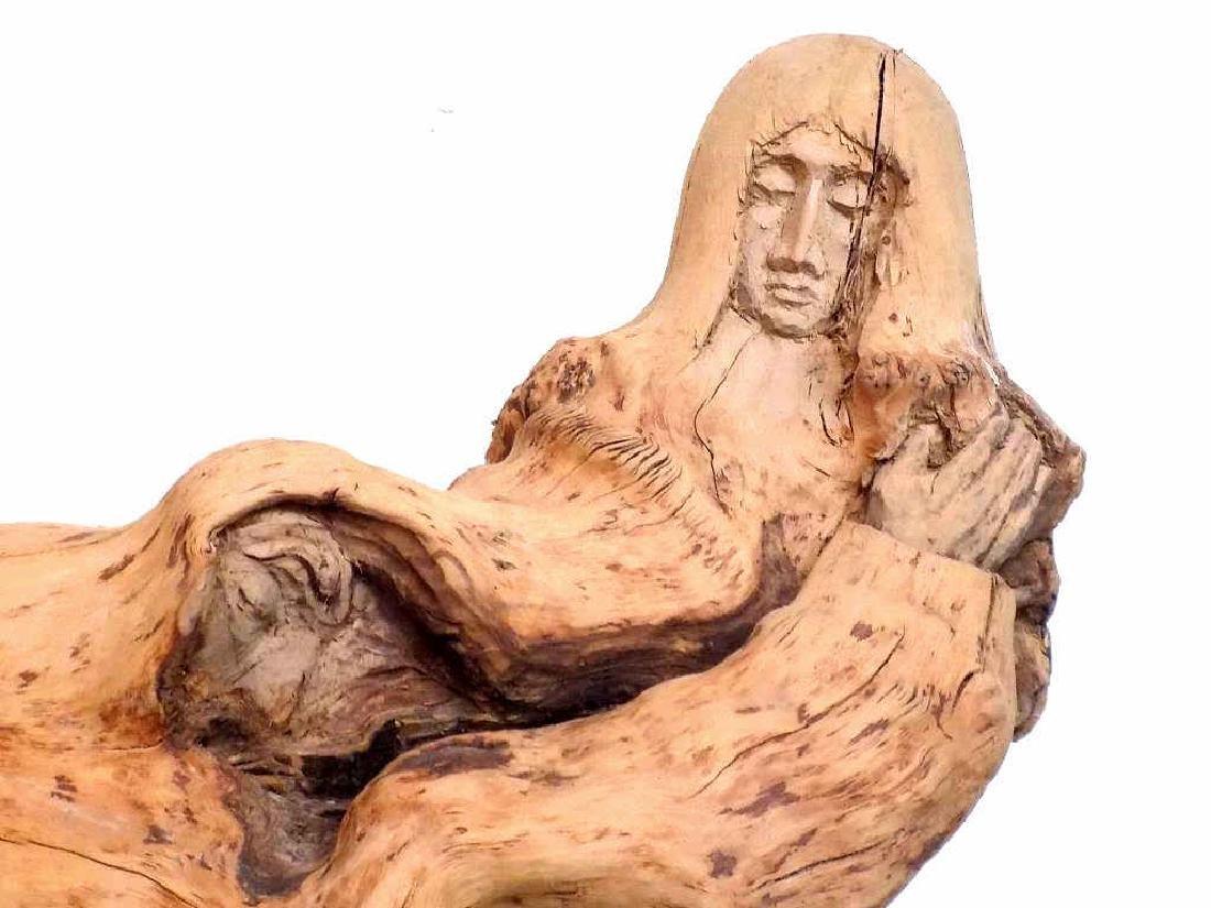 MOROZ NATURALISTIC RECLINING FIGURAL ART SCULPTURE - 2