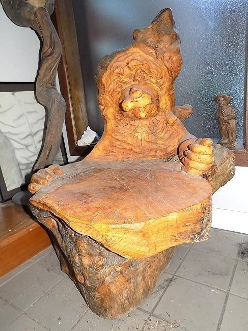 MOROZ - NATURALISTIC FOLK ART FIGURAL CHAIR