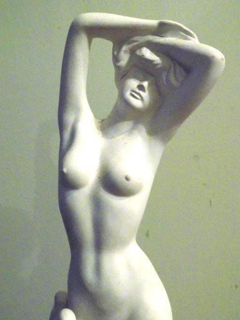 MODERNIST NUDE WOMAN CERAMIC SCULPTURE - 2