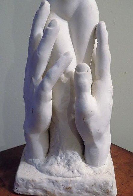 MODERNIST NUDE WOMAN CERAMIC SCULPTURE - 3
