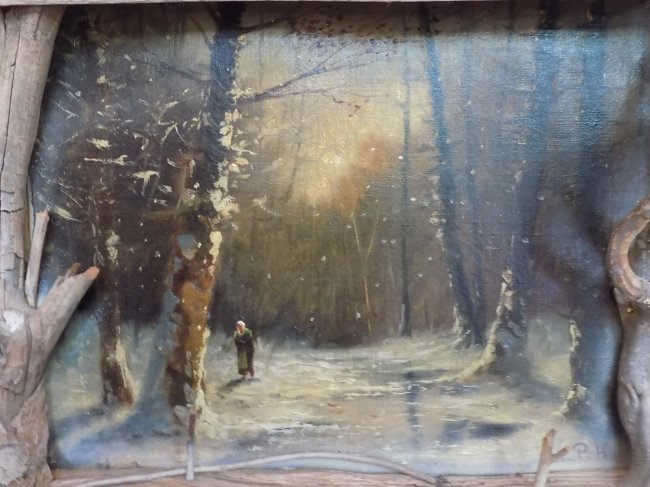 P.H. - RUSSIAN WINTER WOODLANDS PAINTING - 2