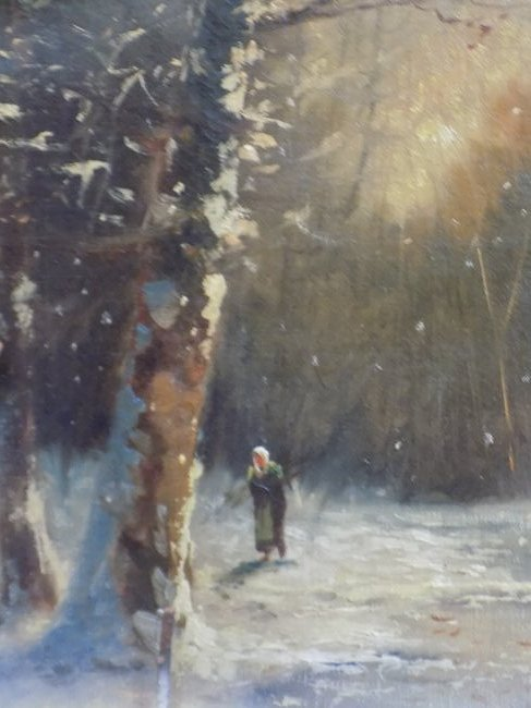 P.H. - RUSSIAN WINTER WOODLANDS PAINTING - 3