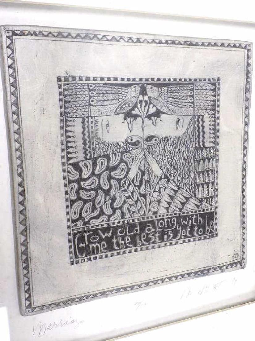 MCCARTHY - MODERN ART SCULPTED CERAMIC TILE
