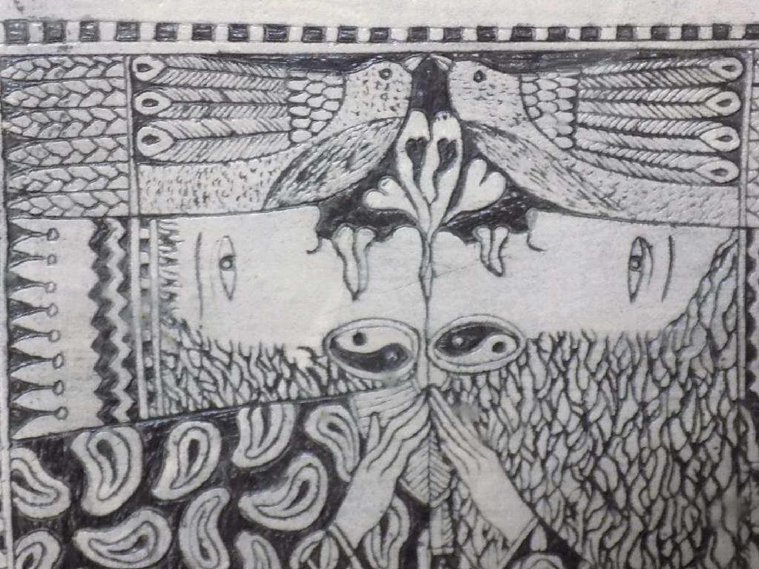 MCCARTHY - MODERN ART SCULPTED CERAMIC TILE - 3