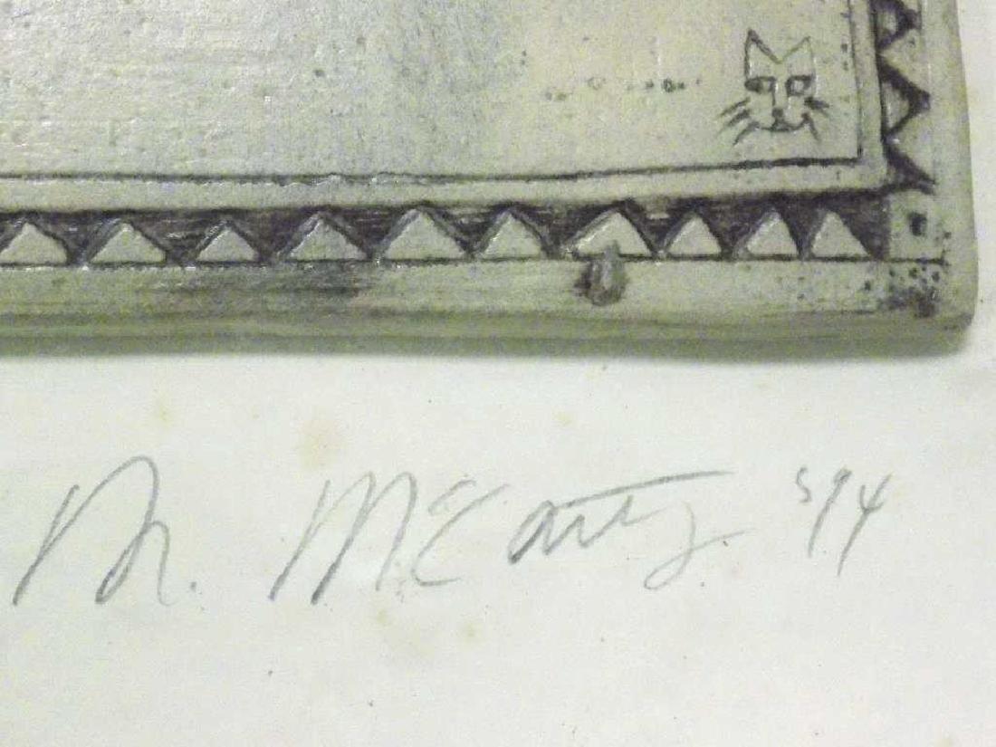 MCCARTHY - MODERN ART SCULPTED CERAMIC TILE - 5