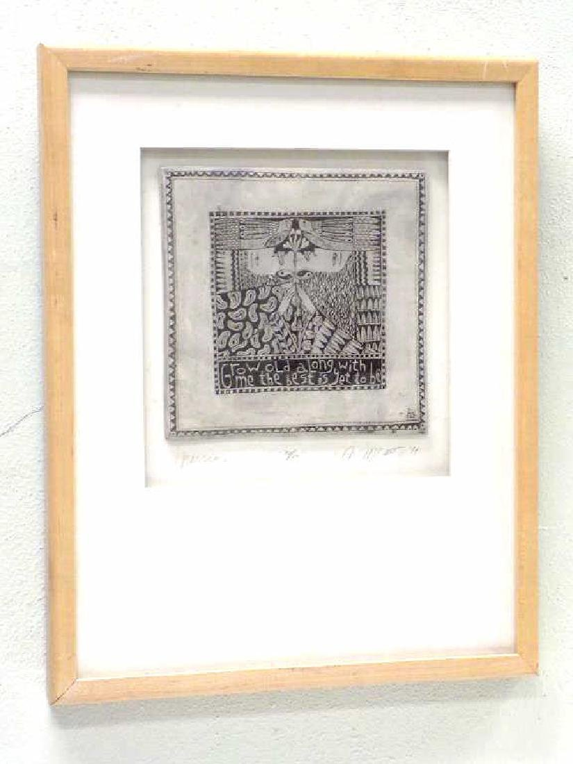 MCCARTHY - MODERN ART SCULPTED CERAMIC TILE - 6