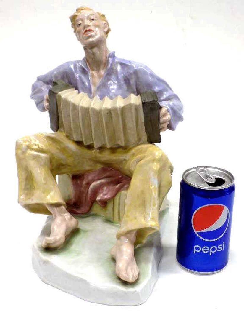 ROSENTHAL ACCORDION PLAYER PORCELAIN FIGURE
