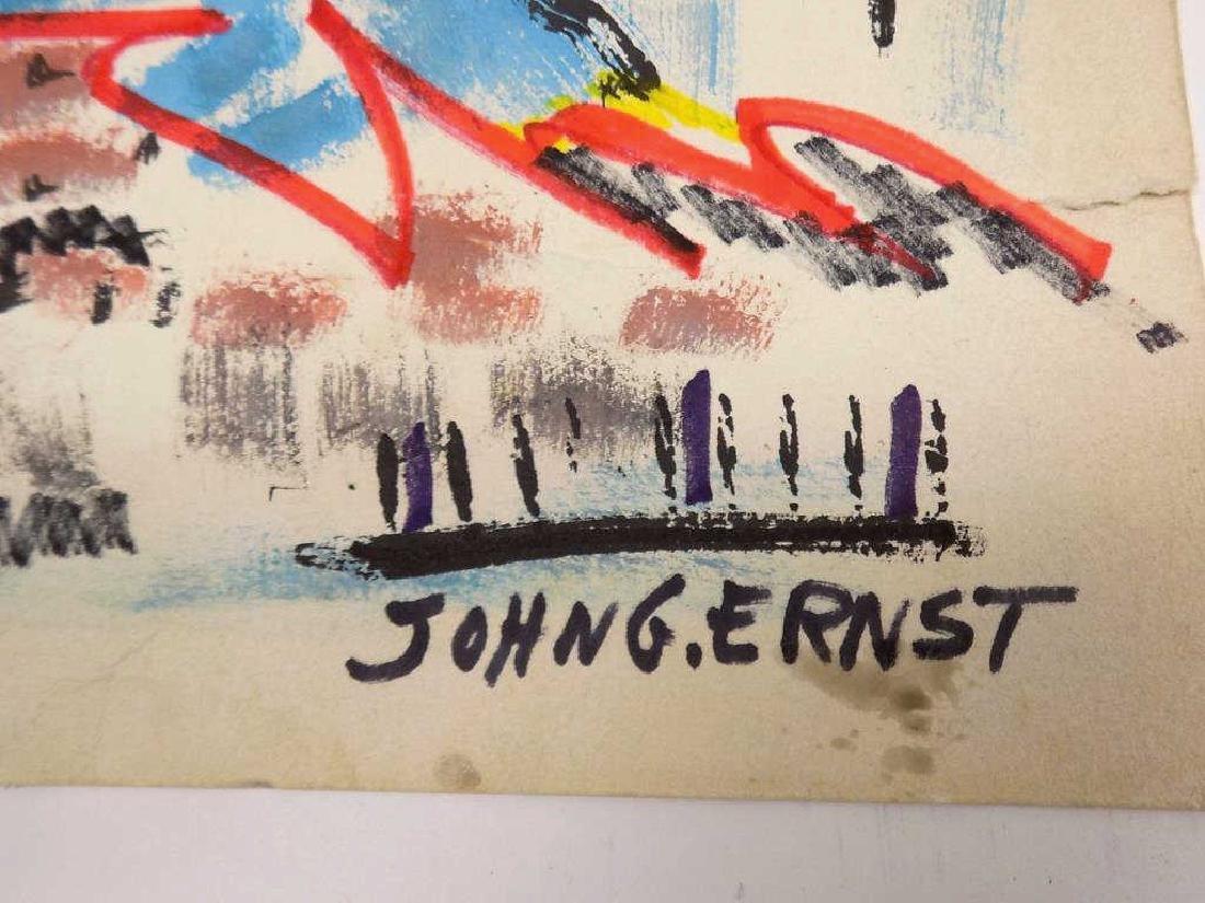JOHN ERNST - WOODSTOCK N.Y. ABSTRACT WATERCOLOR - 3