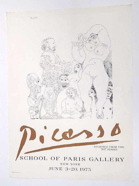PICASSO - ETCHINGS 347 SERIES EXHIBITION POSTER