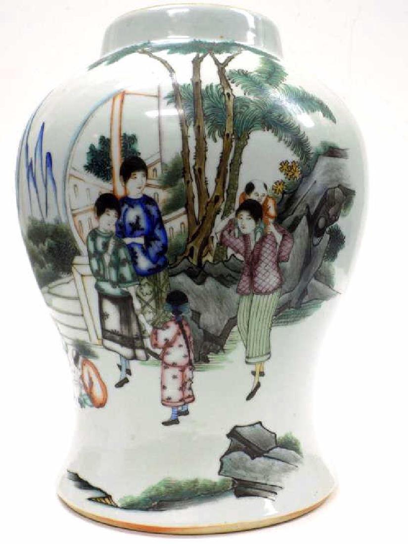 BIG CHINESE SCENIC PORCELAIN JAR
