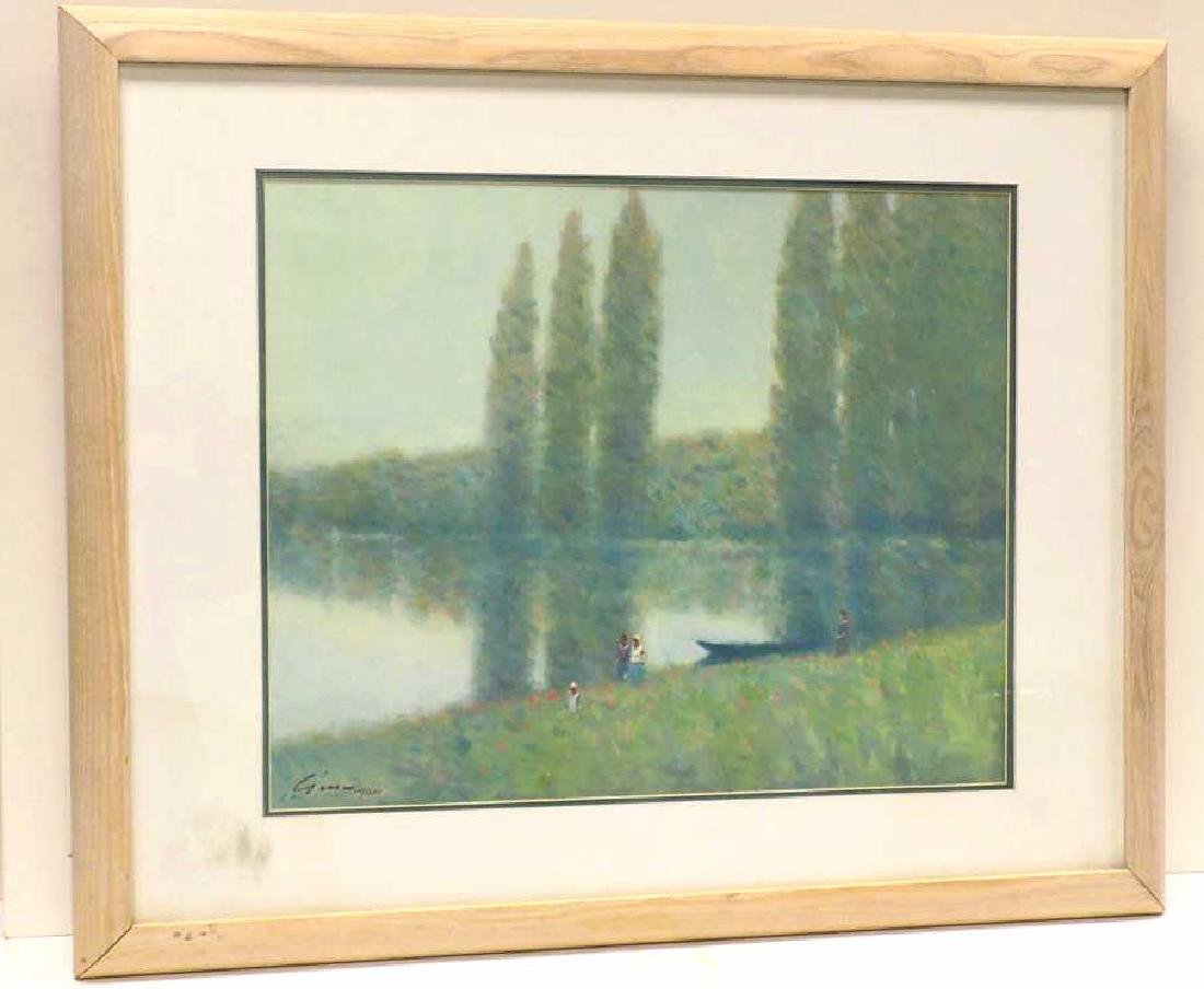ANDRE GISSON - POPLARS LIMITED EDITION LITHOGRAPH