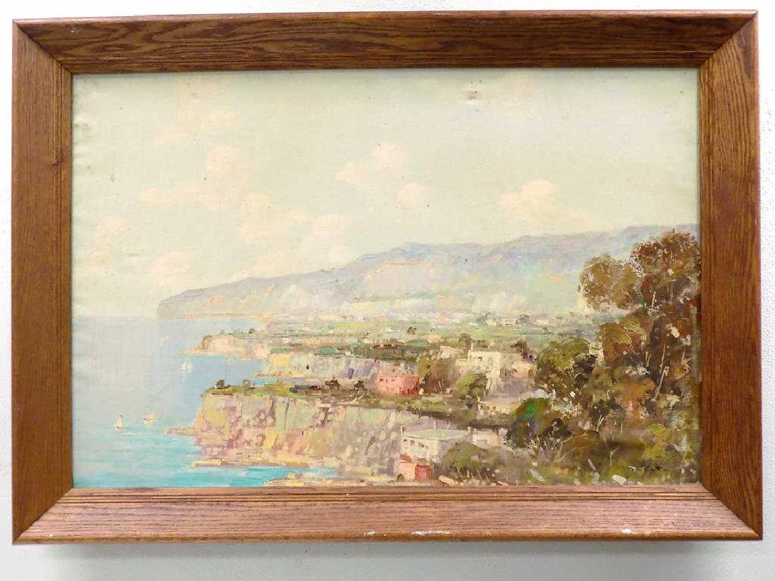 ILLEGIBLY SIGNED FRENCH IMPRESSIONIST BAY PAINTING