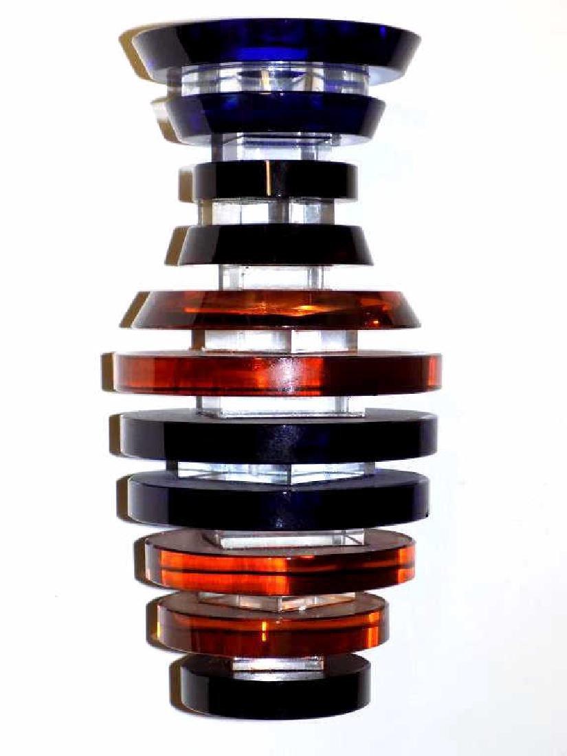 MIDCENTURY MODERNIST SKELETON ART GLASS