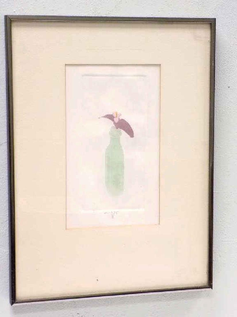 WALTER CLEVELAND - ORCHID SIGNED ETCHING