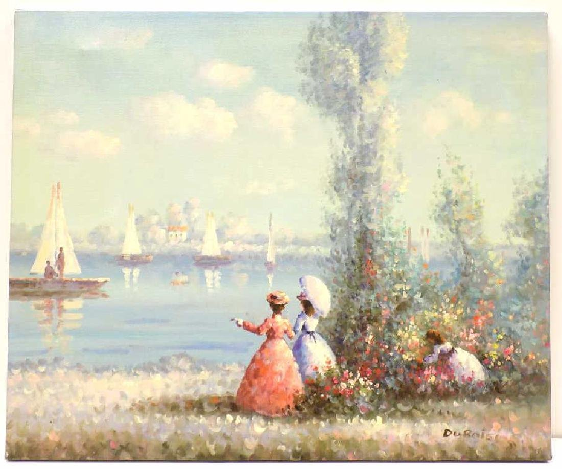 DUBOIS - FRENCH IMPRESSIONIST SEASIDE PAINTING
