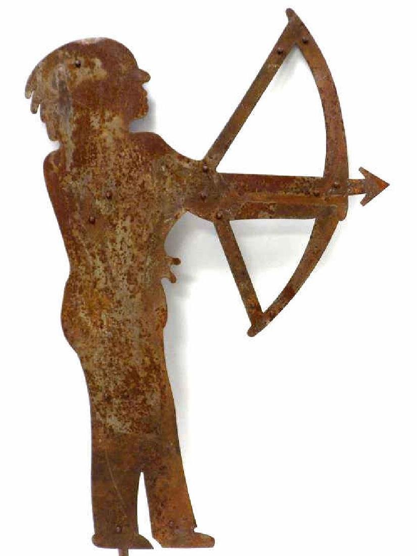 EARLY AMERICAN INDIAN FOLK ART IRON FIGURE - 2