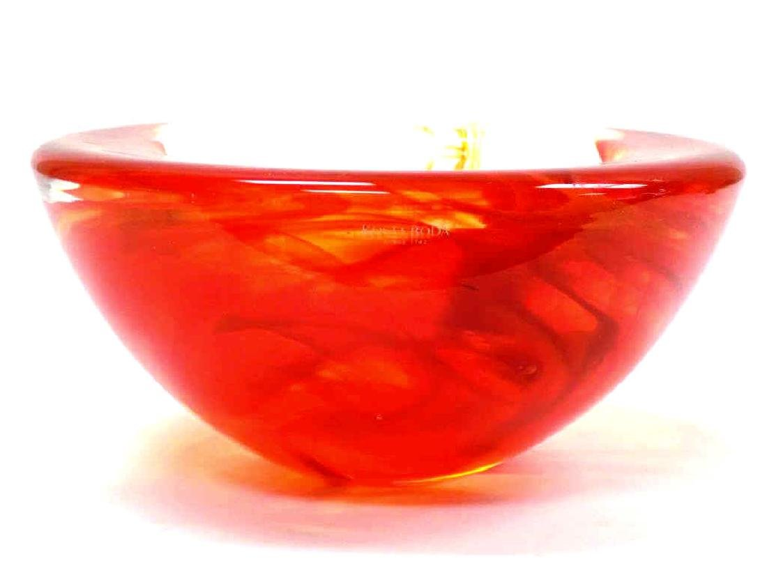 MODERNIST KOSTA BODA ART GLASS BOWL