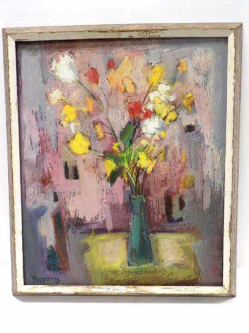 RUSSIAN SIGNED ABSTRACT STILL LIFE PAINTING