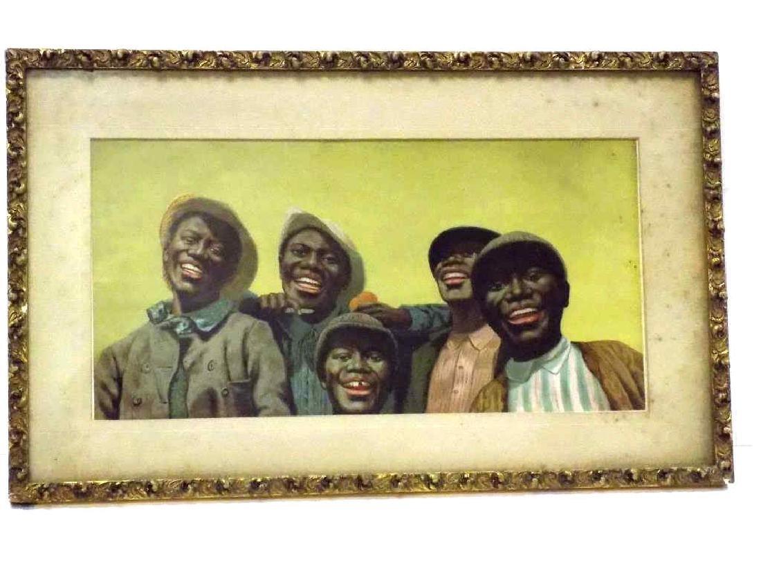 1891 BLACK AMERICANS CHROMOLITHOGRAPH