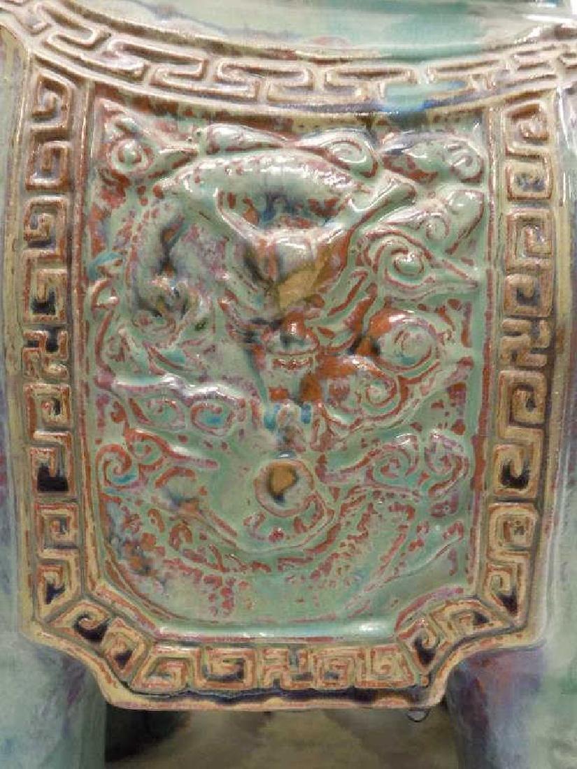 ANTIQUE CHINESE GLAZED ELEPHANT GARDEN SEAT - 4