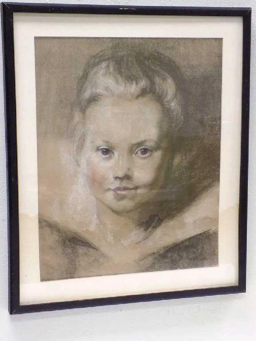 AFTER REUBENS - OLD MASTER BOY GRAPHITE PASTEL