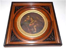 RELIGIOUS OLD MASTER MADONNA & CHILD PAINTING