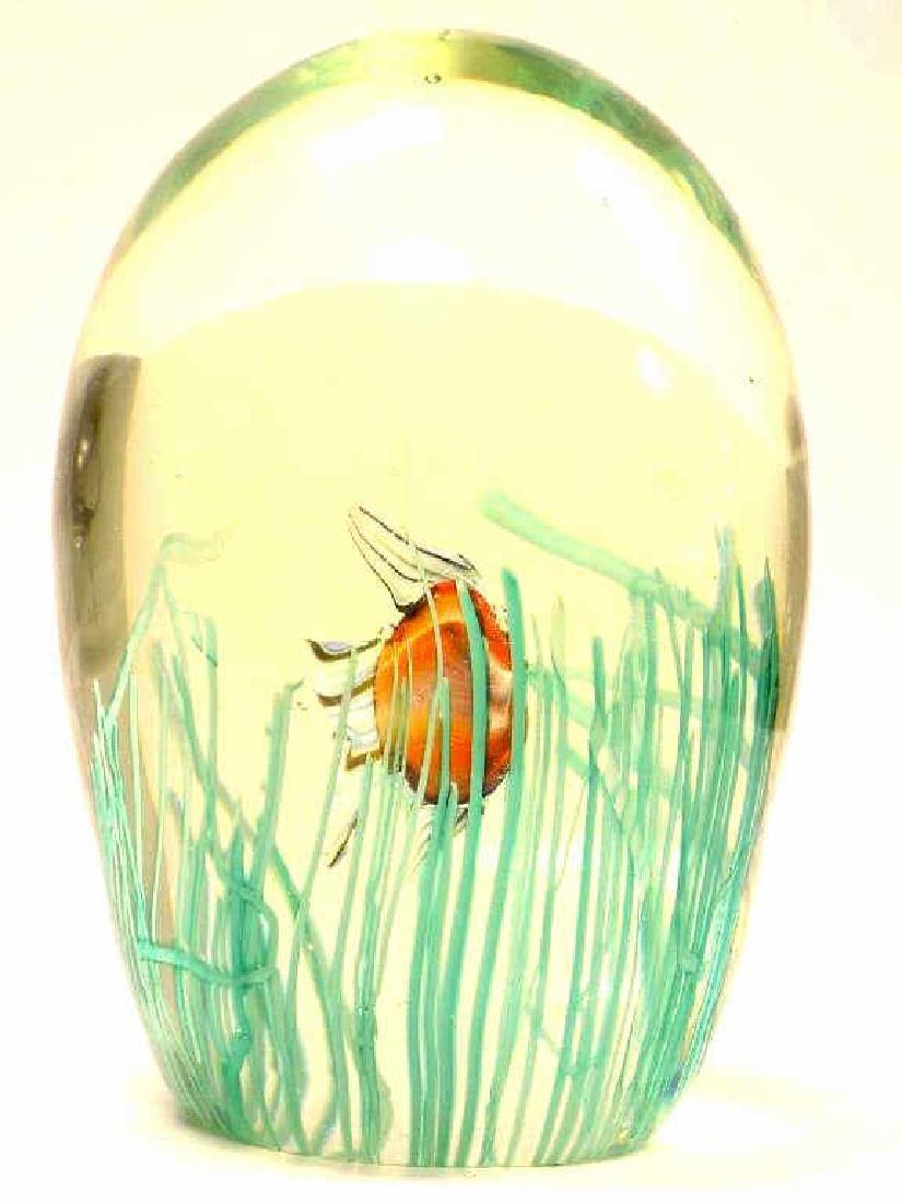 BIG MURANO SWIMMING FISH ART GLASS