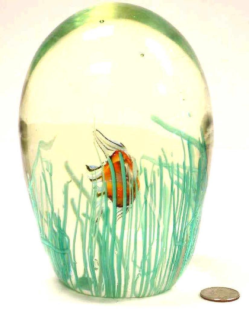 BIG MURANO SWIMMING FISH ART GLASS - 3
