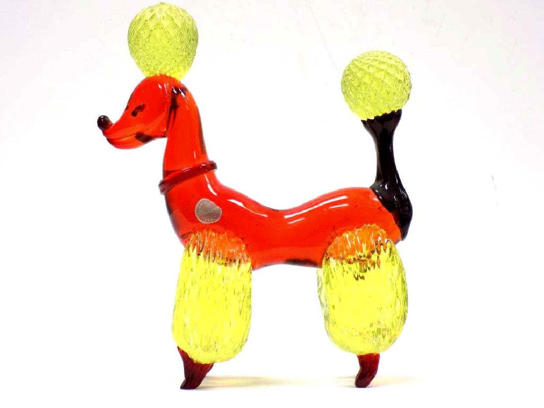 BIG MURANO ART GLASS POODLE