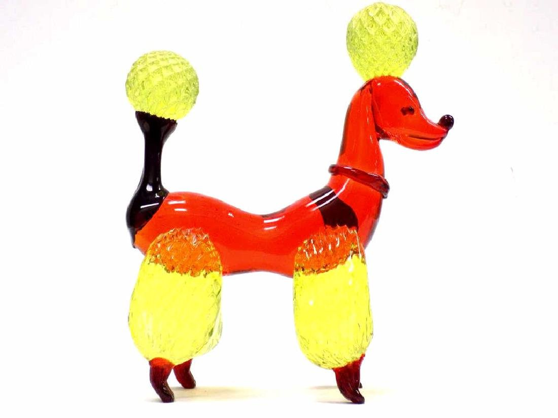 BIG MURANO ART GLASS POODLE - 2