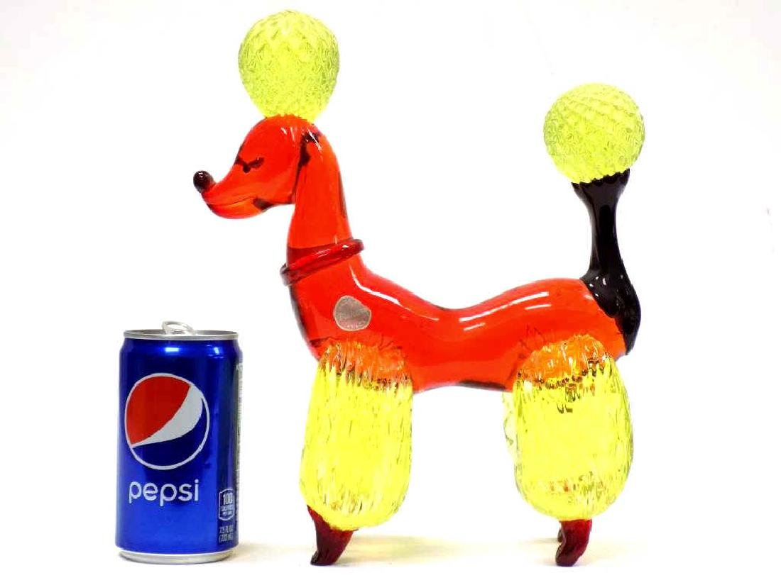 BIG MURANO ART GLASS POODLE - 4