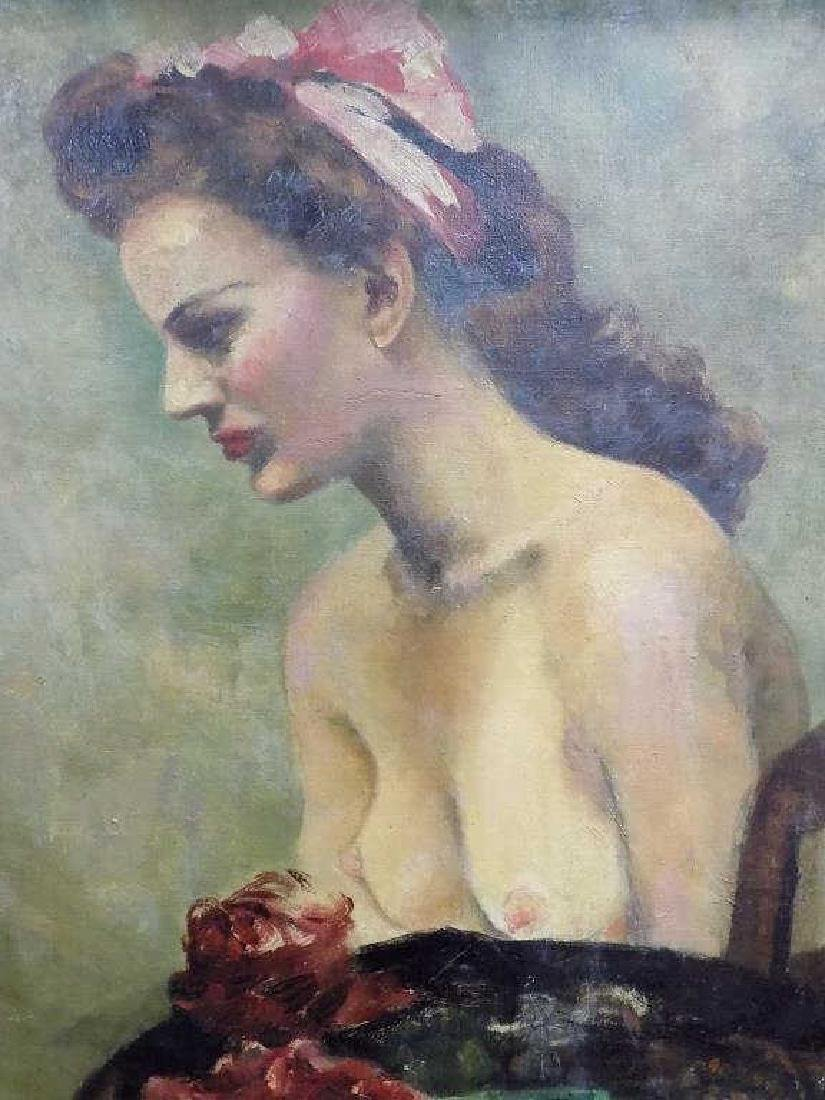 ASH CAN SCHOOL NUDE SEATED BEAUTY PAINTING - 2