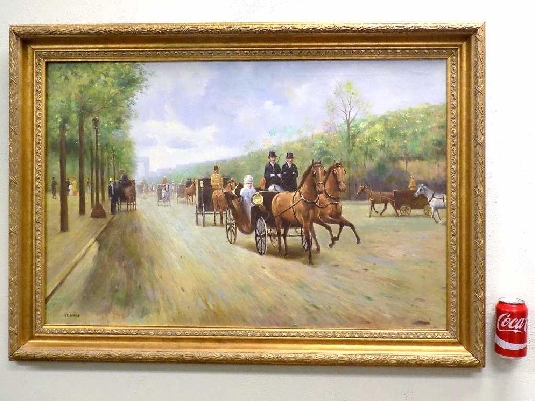 LE CHAMP - THE CARRIAGES PROMENADE PAINTING