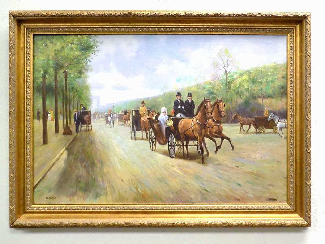 LE CHAMP - THE CARRIAGES PROMENADE PAINTING - 2