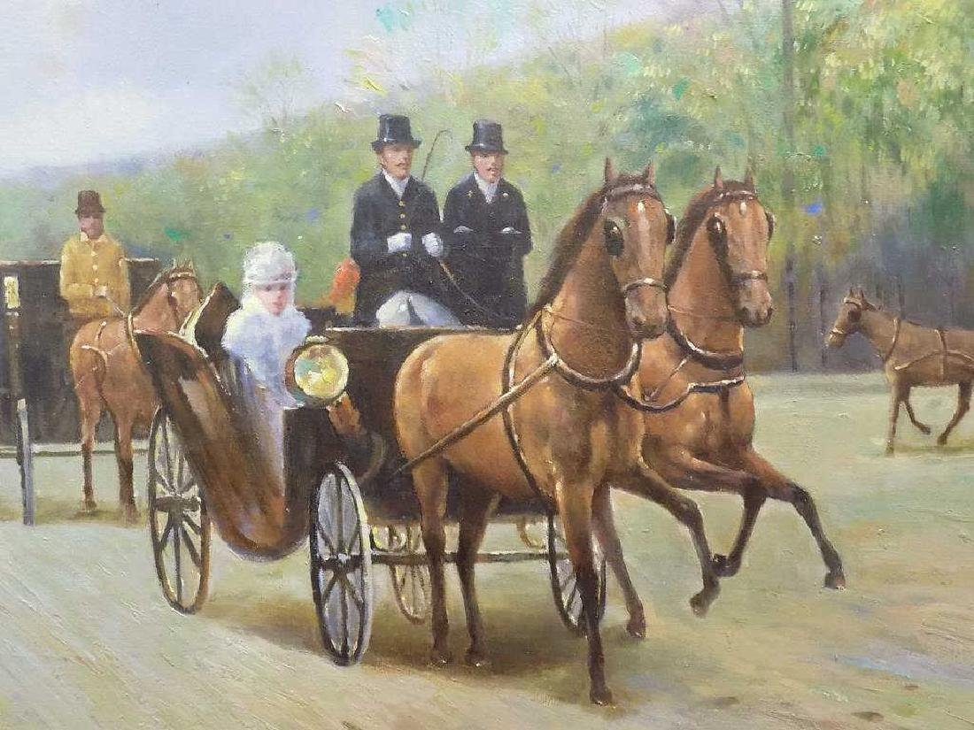 LE CHAMP - THE CARRIAGES PROMENADE PAINTING - 3