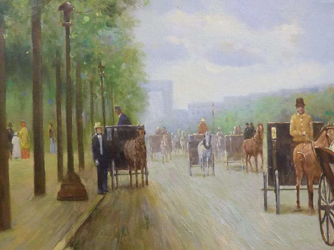 LE CHAMP - THE CARRIAGES PROMENADE PAINTING - 4