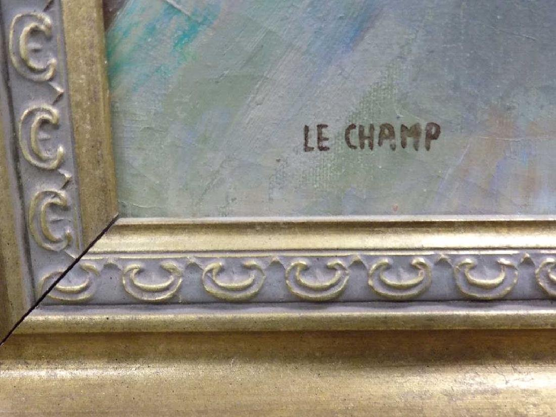 LE CHAMP - THE CARRIAGES PROMENADE PAINTING - 5