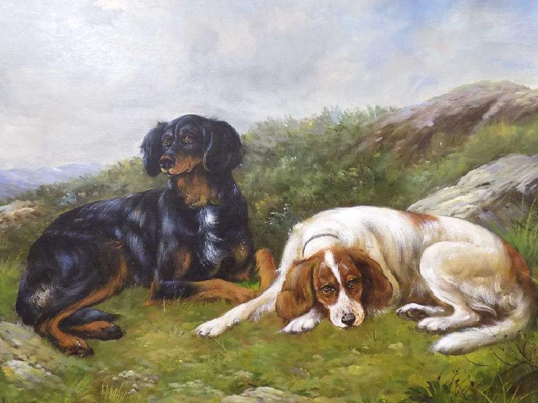 SPORTING HOUNDS ON A HILL PAINTING - 2