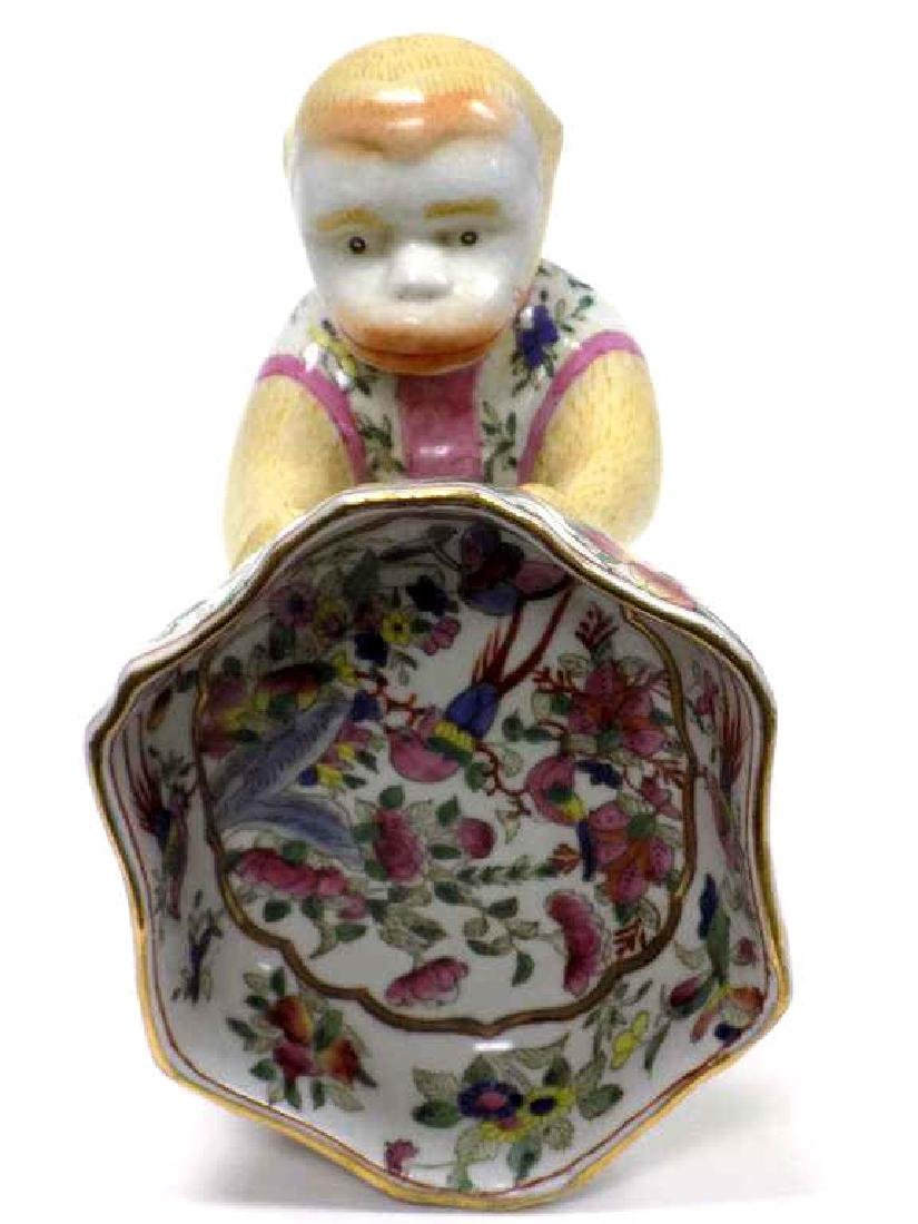 CHINESE FAMILLE ROSE FIGURAL MONKEY BOWL - 3