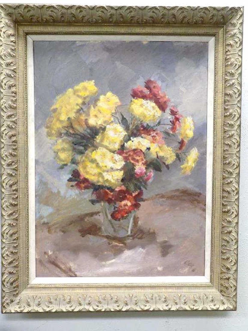 COX - FLORAL BOUQUET STILL LIFE PAINTING