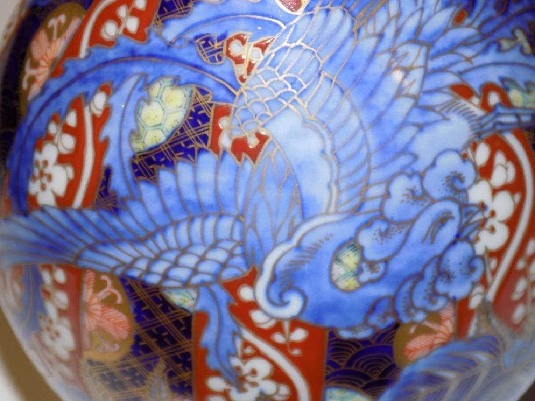 JAPANESE IMARI PAIR BOTTLE VASES - 2