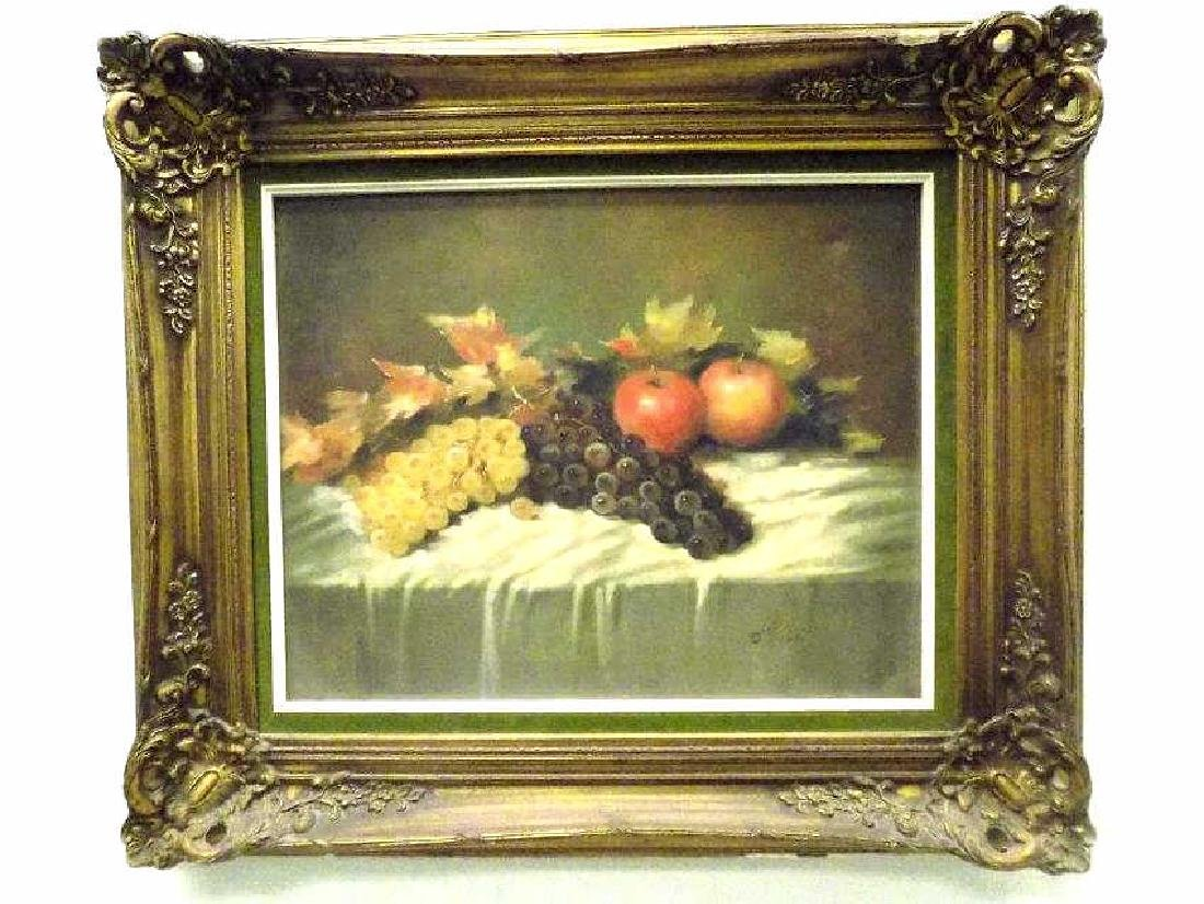 ROBERTI - FRUIT TABLE STILL LIFE PAINTING