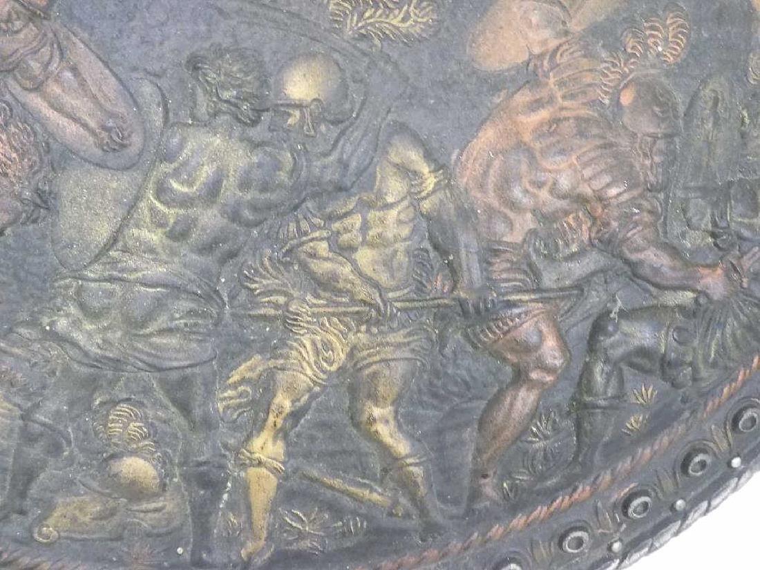 ROMAN EMPIRE GLADIATOR BATTLE SCENE SHIELD - 4