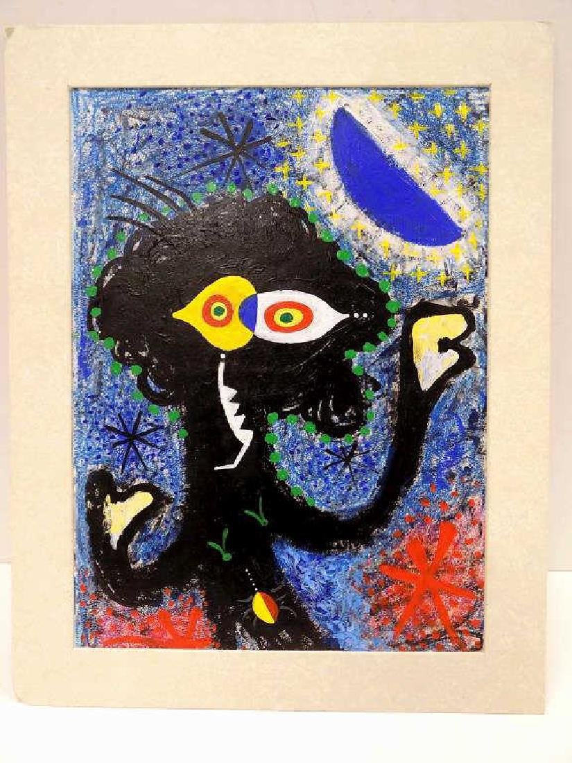 JOAN MIRO STYLE - ABSTRACT PAINTING