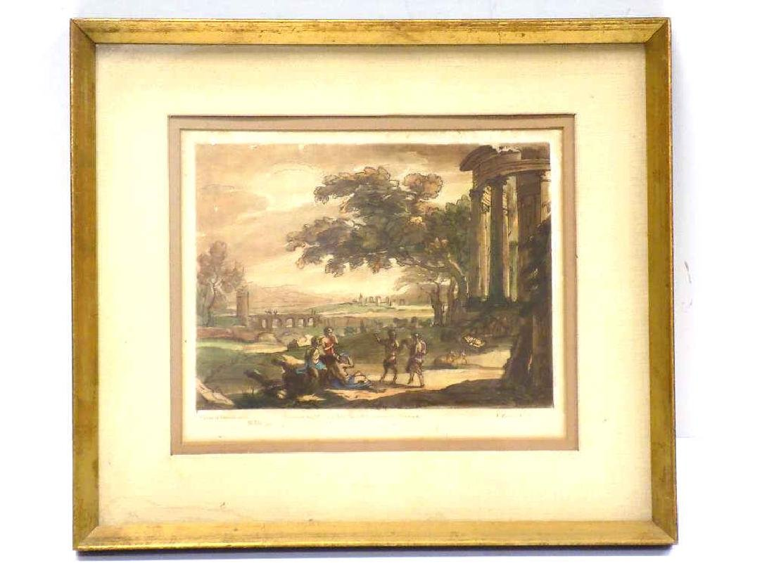1774 CLAUDE LE LORRAIN BOYDELL ENGRAVED AQUATINT