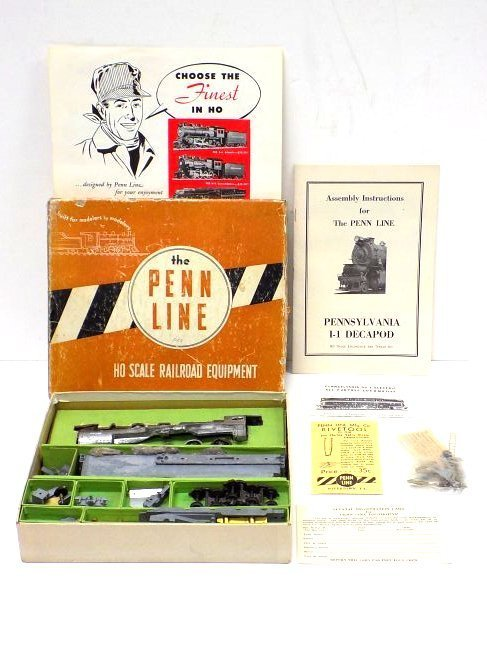 PENN LINE HO SCALE RAILROAD TRAIN SET