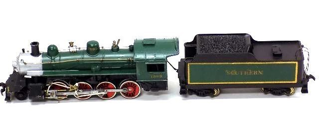 VARNEY HO SCALE GREEN LOCOMOTIVE TRAIN & CAR