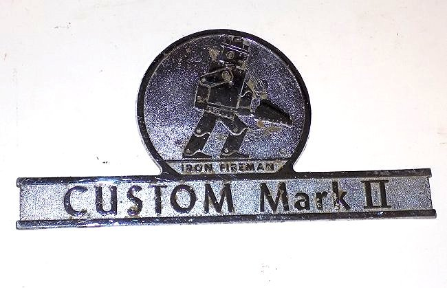 CUSTOM MARK II IRON FIREMAN CHROME FIRE TRUCK SIGN